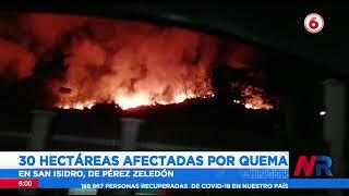 30 hectáreas afectadas por incendio en Pérez Zeledón