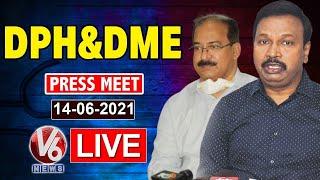 TS Health Director Srinivasa Rao backslashu0026 DME Ramesh Reddy Press Meet LIVE | Covid Situation | V6 News - V6NEWSTELUGU