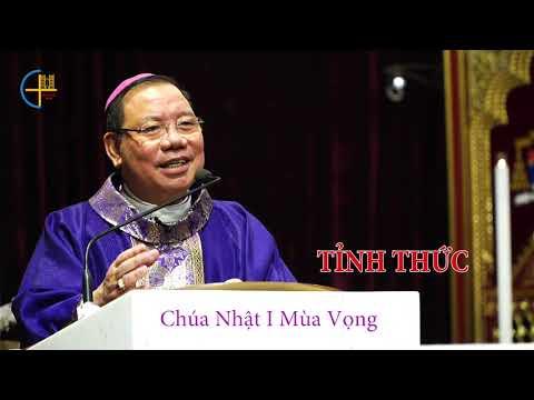 Đức Tổng Giám mục Giuse Vũ Văn Thiên giảng tại nhà thờ Chính Toà Hà Nội trong Thánh lễ CN 1 Mùa Vọng ngày 29/11/2020.