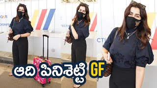 Aadhi Pinisetty Girlfriend Nikki Galrani Spotted At Airport | Tollywood Celebrities Airport Videos - TFPC