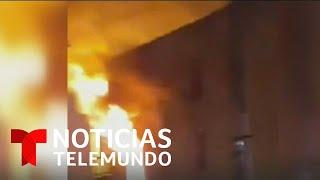 Incendio obligó a residentes a saltar por las ventanas   Noticias Telemundo
