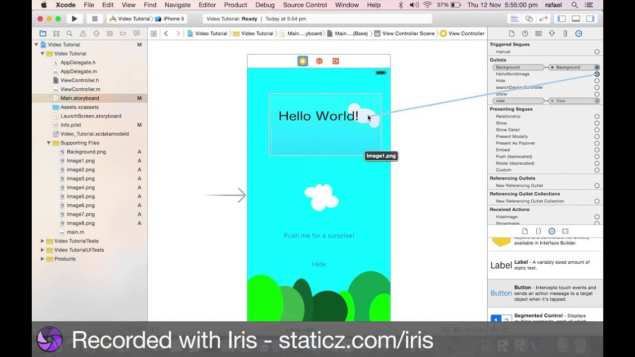 Creating a simple iPhone app with xCode 7.1