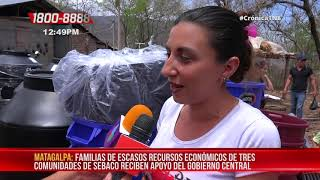 Gobierno central entrega herramientas de trabajo a familias en Matagalpa - Nicaragua