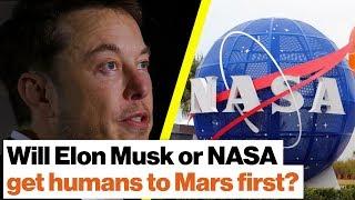 Will Elon Musk or NASA get humans to Mars first? | Michio Kaku