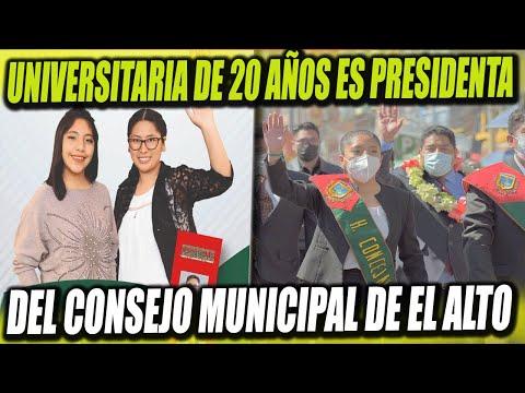 Joven universitaria de 20 años asume presidencia del Concejo Municipal de El Alto
