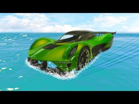 HOW TO DRIVE ON WATER! (GTA 5 Funny Moments)