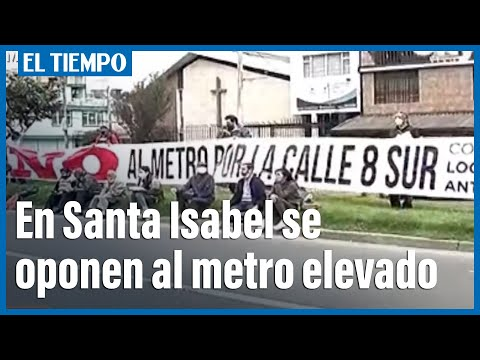 Residentes de Santa Isabel se oponen al metro elevado