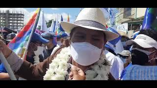 Ministro Jeyson Auza participa del Concentración del MAS en Cochabamba