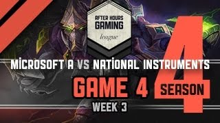 AHGL SEASON 4 WEEK 3 - MICROSOFT A VS. NATIONAL INSTRUMENTS - P4