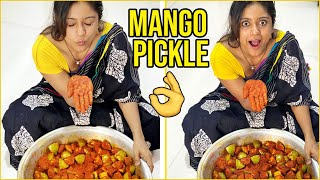 Actress Vithika Sheru Preparing Mango Pickle at Home | TFPC - TFPC