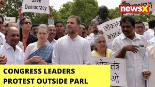 Cong MPs Protest Outside Parl | NewsX Ground Report | NewsX - NEWSXLIVE