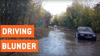 Car Attempts Driving Through Flood | CHARGE!