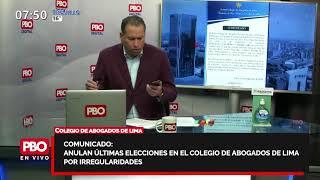 ¿ESCÁNDALO Anulan últimas elecciones en el Colegio de Abogados de Lima por irregularidades ????