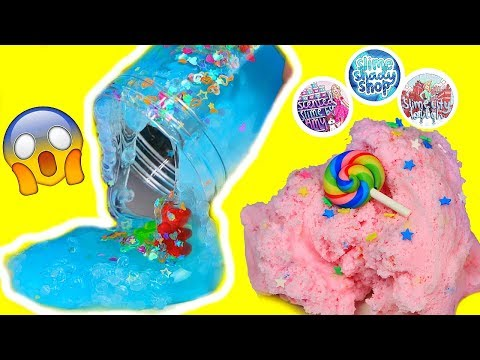 connectYoutube - SLIME PACKAGE REVIEW! FAMOUS SLIME SHOPS! 100% Honest Slime Review