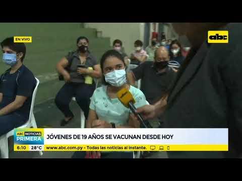 Jóvenes de 19 años se vacunan desde hoy