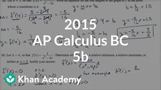 2015 AP Calculus BC 5b