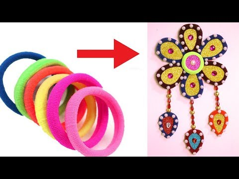 DIY - How to Make Hair Rubber Bands Crafts Idea for Home Decor - Best Way to Reuse Hair Rubber Bands
