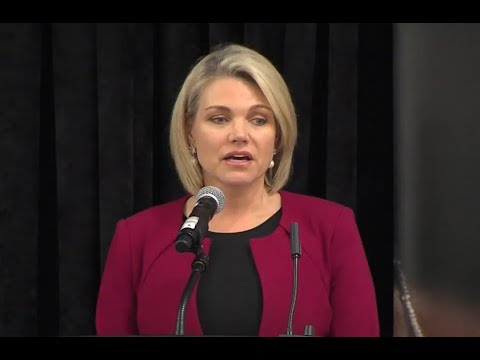 Heather Nauert gives FIRST Speech as Under Secretary of State and it doesn't go as Planned