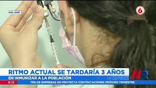 Ritmo actual de vacunación tardaría 3 años en inmunizar a la población