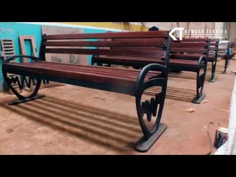 Mengintip Pembuatan Kursi Trotoar Besi Cor