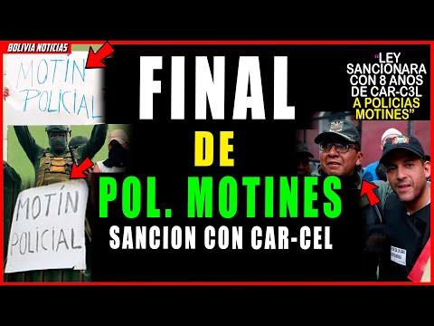 ¡HUN-DEN A POL. MOTI-NES! LEY SANCIO-NAR4 CON 8 DE AÑOS DE CAR-C3L A POLI-CI4S MOTI-N3S
