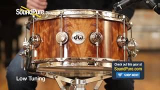 DW 6.5x14 Collectors Exotic Series Maple Snare Drum - Okume Veneer Quick n' Dirty