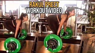 Actress Rakul Preet Singh Doing Heavy Gym Workout | Rakul Preet GYM Video | TFPC - TFPC