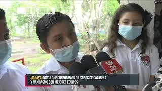 Coros Rubén Darío reciben nuevos equipos en Masaya - Nicaragua