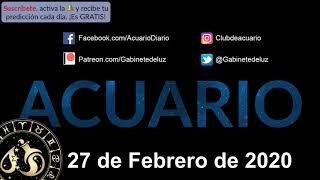 Horóscopo Diario - Acuario - 27 de Febrero de 2020