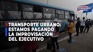 Ángel Mendoza: estamos pagando la improvisación del Ejecutivo en el trasporte público