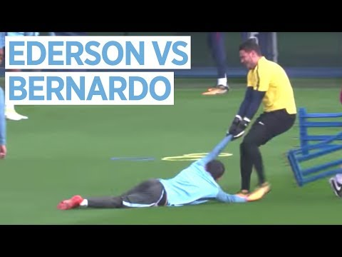 EDERSON VS BERNARDO SILVA | Man City vs Shakhtar Donetsk | Champions League Training