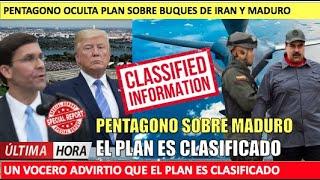 Pentagono operacion es clasificada Maduro no tiene idea