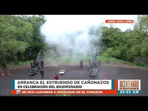 """¡#BicentenarioHonduras! En el """"Juana Laínez"""" saludan a la patria con los tradicionales 21 Cañonazos"""