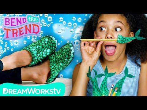 Mermaid Tail Slippers + Other Splashy DIYs! | BEND THE TREND