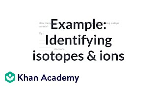 Worked example: Identifying isotopes and ions