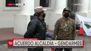 Gendarmes logran un acuerdo con la alcaldía cruceña y levanta sus medidas de presión