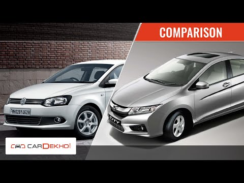 Honda City vs Volkswagen Vento | Video Comparison | CarDekho.com - Honda Videos