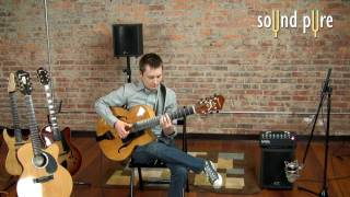 Buscarino Chameleon Speaker Demo with Buscarino Virtuoso Archtop