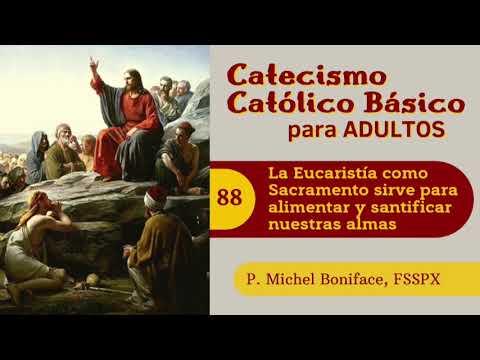 88 La Eucaristia como Sacramento sirve para alimentar y santificar nuestras almas