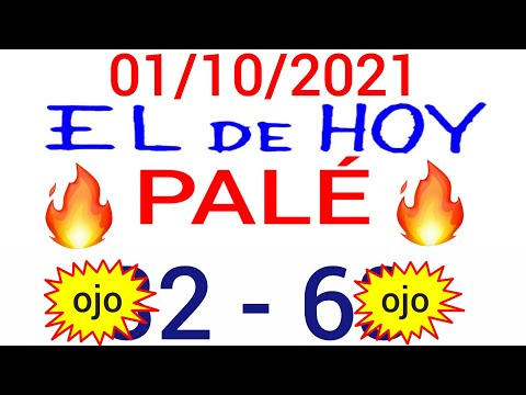NÚMEROS PARA HOY 01/10/21 DE OCTUBRE PARA TODAS LAS LOTERÍAS...!! Números reales 05 para hoy...!!