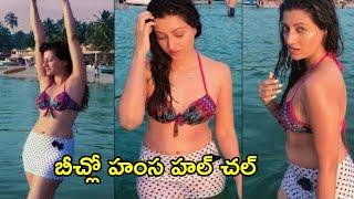 Actress Hamsa Nandini H0T  Photoshoot backslashu0026 Enjoying In Beach  | Hamsa Nandini Latest Video - RAJSHRITELUGU