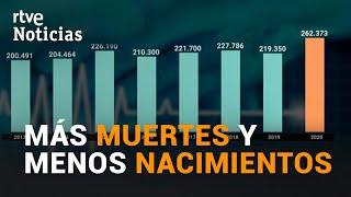 INE: MÁXIMO histórico de FALLECIDOS entre ENERO y JUNIO de 2020 | RTVE Noticias