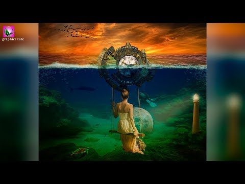 Photoshop Compositing Tutorial -  Fantasy Under Water Scene - Photo Manipulation