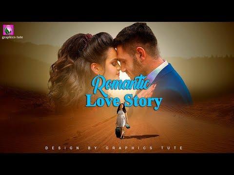 Romantic Movie Poster In Photoshop - Photo Manipulation Tutorial - Photo Effect