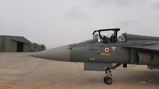 Air Chief Marshal RKS Bhadauria flew LCA Tejas fighter on Wednesday at Sulur, TN - IANSINDIA