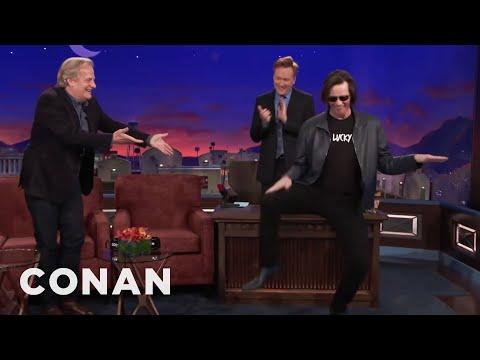 connectYoutube - Jim Carrey Crashes Jeff Daniels' CONAN Interview  - CONAN on TBS