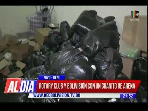 Todos por el Beni: Rotary Club y Bolivisión con un granito de arena
