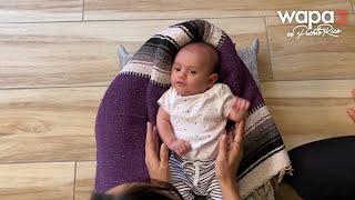 Caras de la Maternidad: Nicole y Álvaro practican yoga juntos