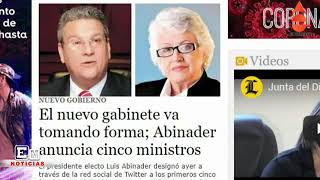 EN NOTICIAS 11 7 2020  ABINADER NOMBRA FUNCIONARIOS DE ONGs Y DE EMPRESARIOS
