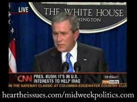 Bush admits Iraq has no connection with 9/11